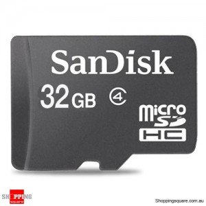 Sandisk 32GB microSDHC Memory Card Class 4 SDSDQM (Retail Pack)