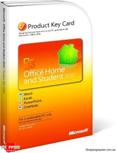 Microsoft Office Home & Student 2010- Product Key Card