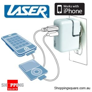 USB Dual Charger for Home & Car- iPhone, iPod, MP3