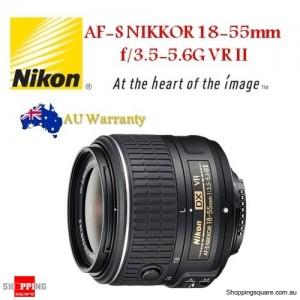 Nikon AF-S DX NIKKOR 18-55mm f/3.5-5.6G VR II camera lens
