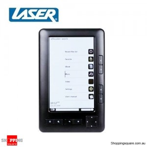 "Laser 5"" Digital E-Book Reader, Multimedia Player Black"