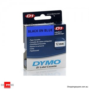 Dymo D1 Labelling Tape 12mm x 7m Black on Blue