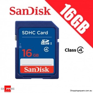 SanDisk 16GB SD Memory SDHC Card Secure Digital High Capacity Card Class 4