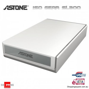 Astone ISO GEAR SL300 3.5 inch External HDD Box eSATA White - Without Cover