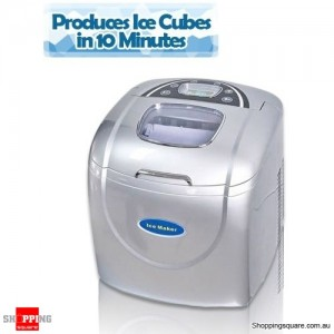 Ice Cube Maker Machine-Silver Automatic 2.0L Capacity