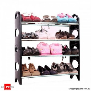 4 Tier Level 12 Pairs Shoe Rack Shelf