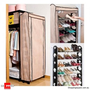 10 Level Shoe Rack with Cover - Australia Up to 30 pairs of shoes