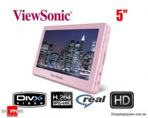 "ViewSonic VPD500 5"" LCD Portable Media Player 8GB pink"