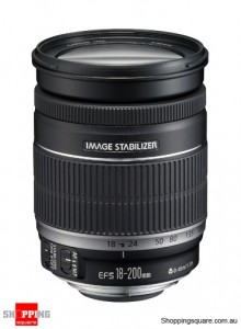 Canon EF-S 18-200mm f/3.5-5.6 IS Camera Lens Black