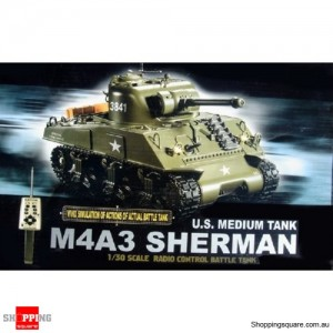 M4A3 Radio Remote Control Sherman Tank 1/30th