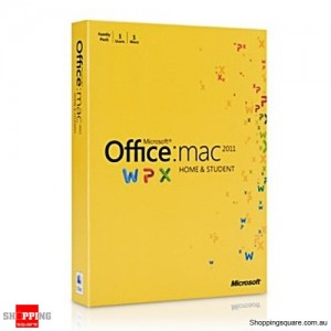 Microsoft Office Home & Student 2011 For MAC - 1 User (GZA-00136)
