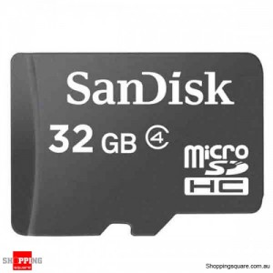 Sandisk 32GB microSDHC Memory Card Class 4 SDSDQM (Retail Pack)