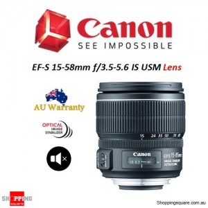 Canon EF-S 15-85mm f/3.5-5.6 IS USM Camera Lens for EOS DSLR