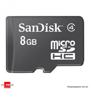 Sandisk 8GB microSDHC Memory Card Class 4 SDSDQM (Retail Pack)