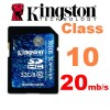 Kingston 32GB SDHC Card Extreme Class 10 20MB/S
