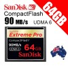 Sandisk Extreme Pro Compact Flash 64GB CF Card 90MBP/S