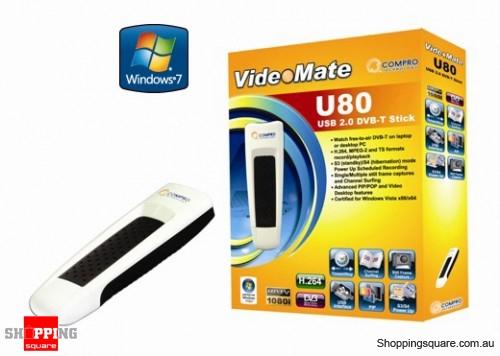 Compro VideoMate U80 USB 20 HD TV Tuner High Definition Digital TV Stick