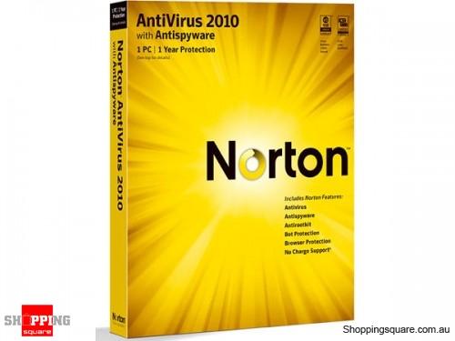 Symantec Norton AntiVirus 2010 with AnitSpyware 1 User