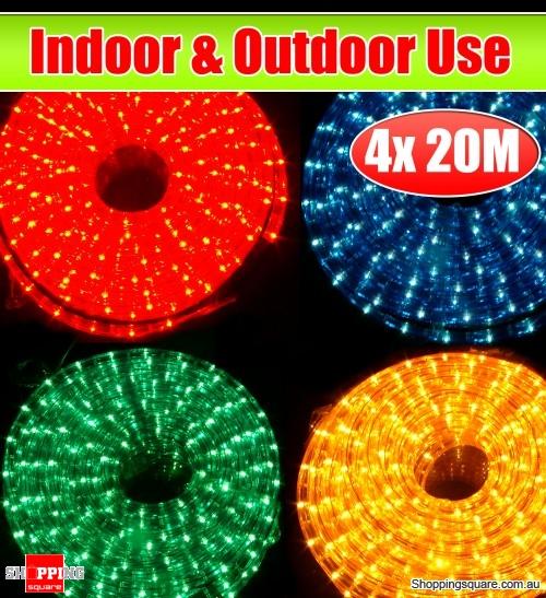 4 X 20m Outdoor Indoor Christmas Rope Lights Online