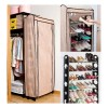 10 Level Shoe Rack with Cover - Up to 30 pairs of shoes