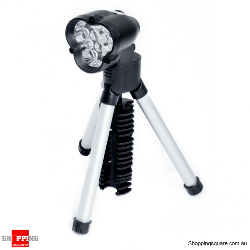 6 LED Tripod Flashlight- Handsfree Torch Design