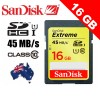 SanDisk 16GB Extreme SD card  45MB/s Class 10 UHS-I UHS-1 3D Full HD Video memory SDHC