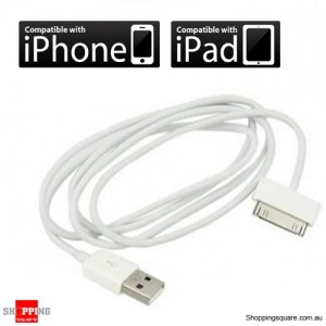 USB Cable for iPhone 4, 3G, 3Gs, iPad, iPad2 and iPod - 1M