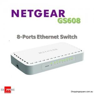 Netgear GS608 8 Port 10/100/1000 Mbps Fast Ethernet Desktop Switch with Auto Uplink