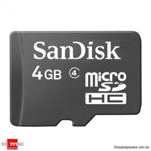 Sandisk 4GB microSDHC Memory Card Class 4 C4 HD