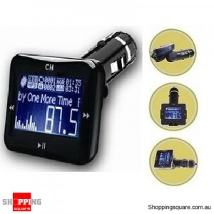 FM Transmitter Car Modulator with LCD Screen & Remote for iPhone,iPod,MP3,MP4