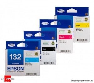 Epson T132 economy value pack, All Colors, 4 Inks, for N11 & NX125