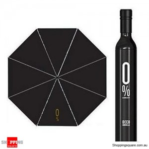Portable Black Wine Bottle Folding Sun Umbrella