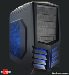 AZZA 301 Toledo Tower Gaming Case, Black/Blue led