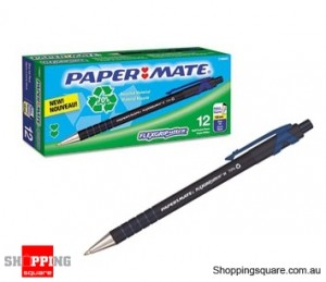 Papermate Flexgrip Ultra Ballpen RECYCLED 1.0mm Blue Retractable - 12pcs/Box