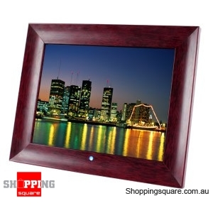 Laser 15 Inch Digital Photo Frame with Wooden Frame Multimedia Playback
