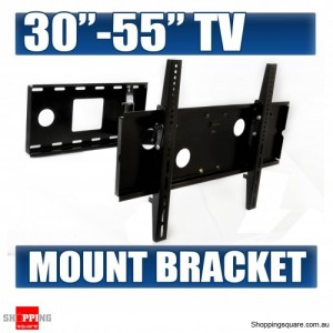 """30-60"""" Slim Tilt Wall Mount Bracket with double extention arm for LED/Plasma/LCD TV"""