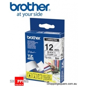 Brother TZ-131 12MM Black On Clear TZ Tape