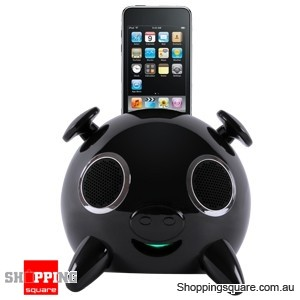 iPig Stereo iPhone/iPod Speaker Docking station 2.1 Touch Black with Remote Control