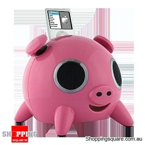 iPig Stereo iPhone/iPod Speaker Docking station 2.1 Touch Pink