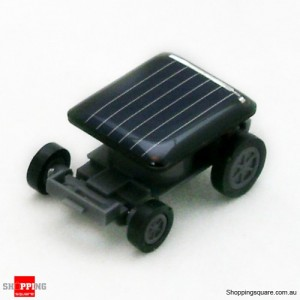 World's Smallest Solar Powered Car Black