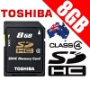 Toshiba 8G SDHC Card - High Speed Class 4