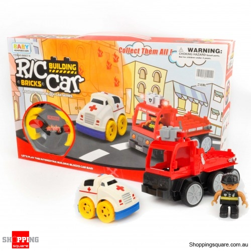 LEGO Compatiable - Remote Control Fire Rescue Truck Set