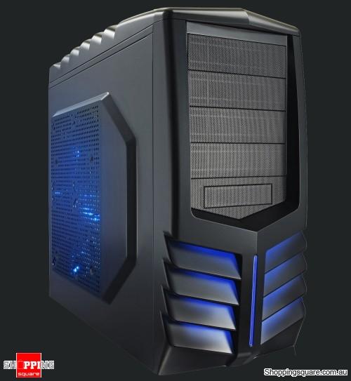 Azza 301 Toledo Tower Gaming Case Black Blue Led Online