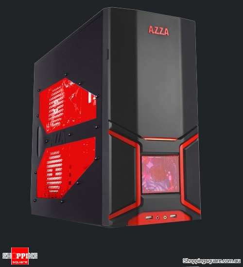 AZZA 202EVO Orion Gaming Case, Black/Red led