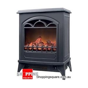 Electronic Fireplace Heater 2000W with Imitation Glow
