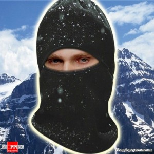 Full Face Cover Winter Ski Mask Balaclava Hood - Black Colour