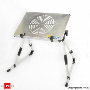 Portable Folding Table with Cooling Fan for Laptop, Notebook,iPad