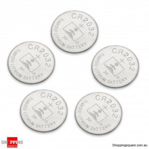 CR2032 3V Lithium Cell Button Battery (5-Pack)