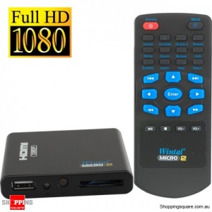 Wintal Micro Ultra Compact HD Multi Media Player 1080P with HDMI ,Card Reader