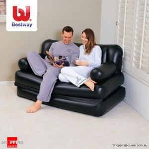 Bestway 5 in 1 Inflatable Double Mutifunctional Couch Air Sofa with Pump